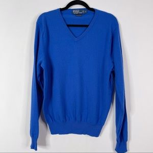 Polo by Ralph Lauren Cashmere V-Neck Sweater Blue
